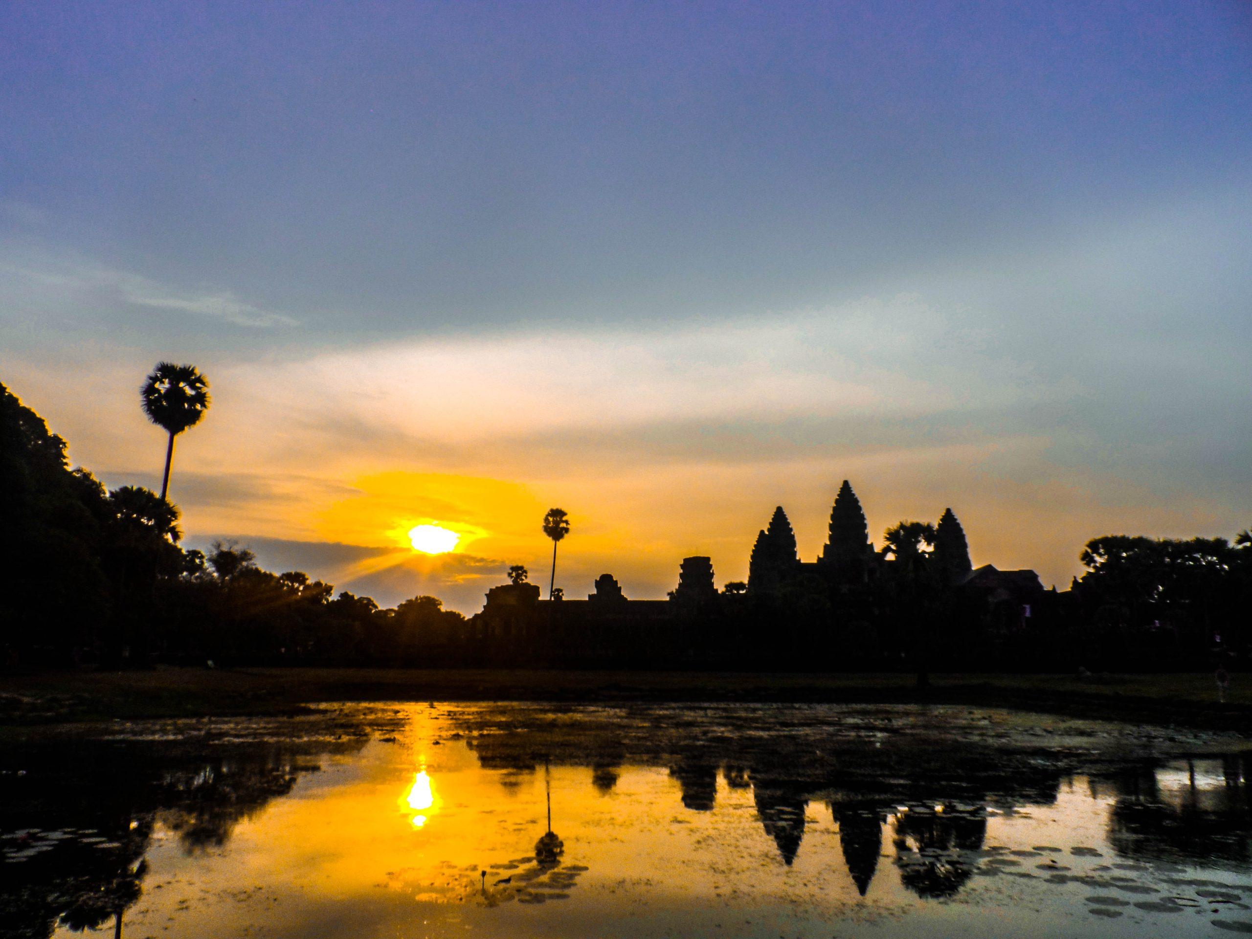 Picture of Angkor Watt as the sun rises. Cambodia.