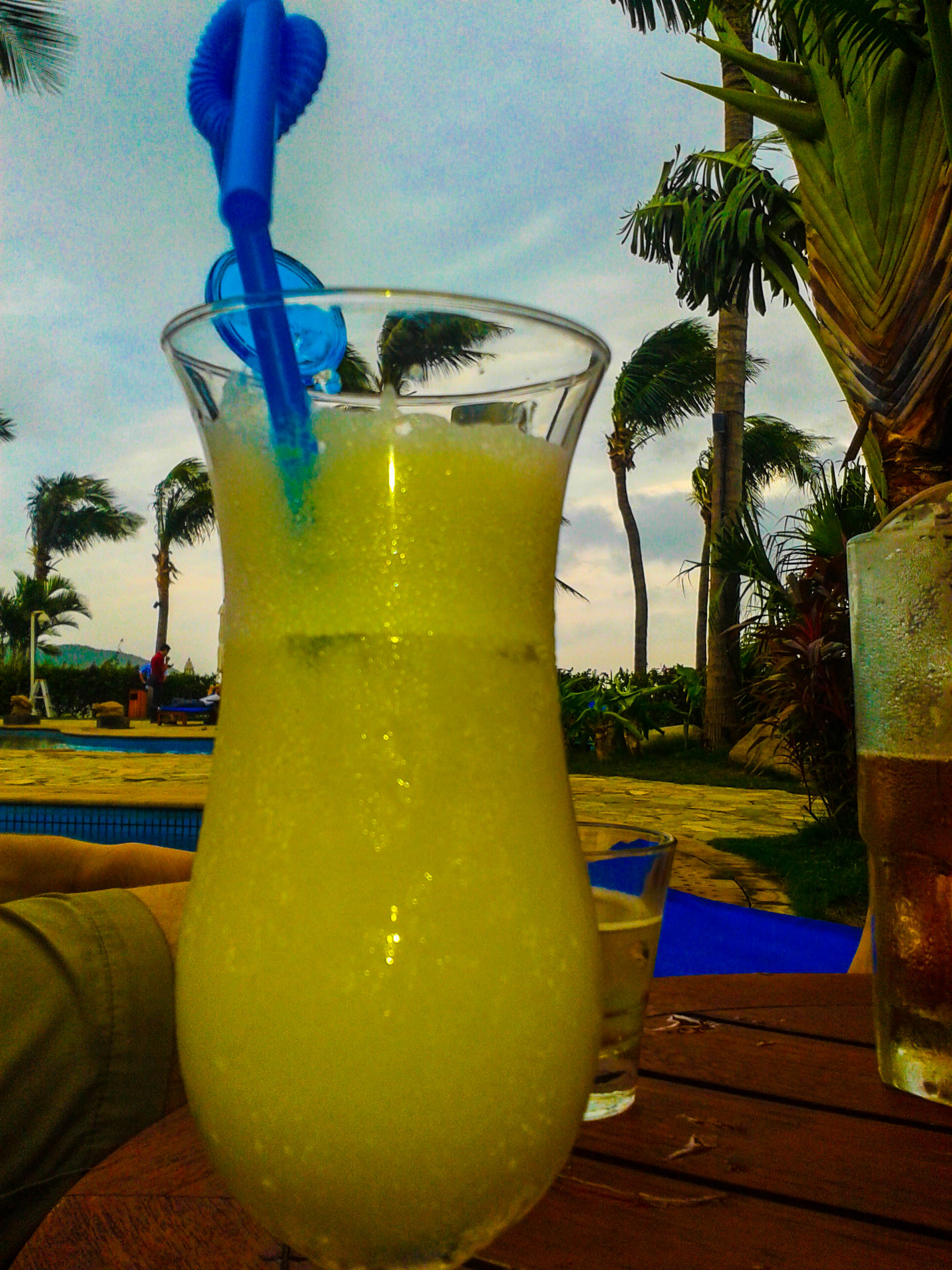 Pina Colada cocktail in Sanya