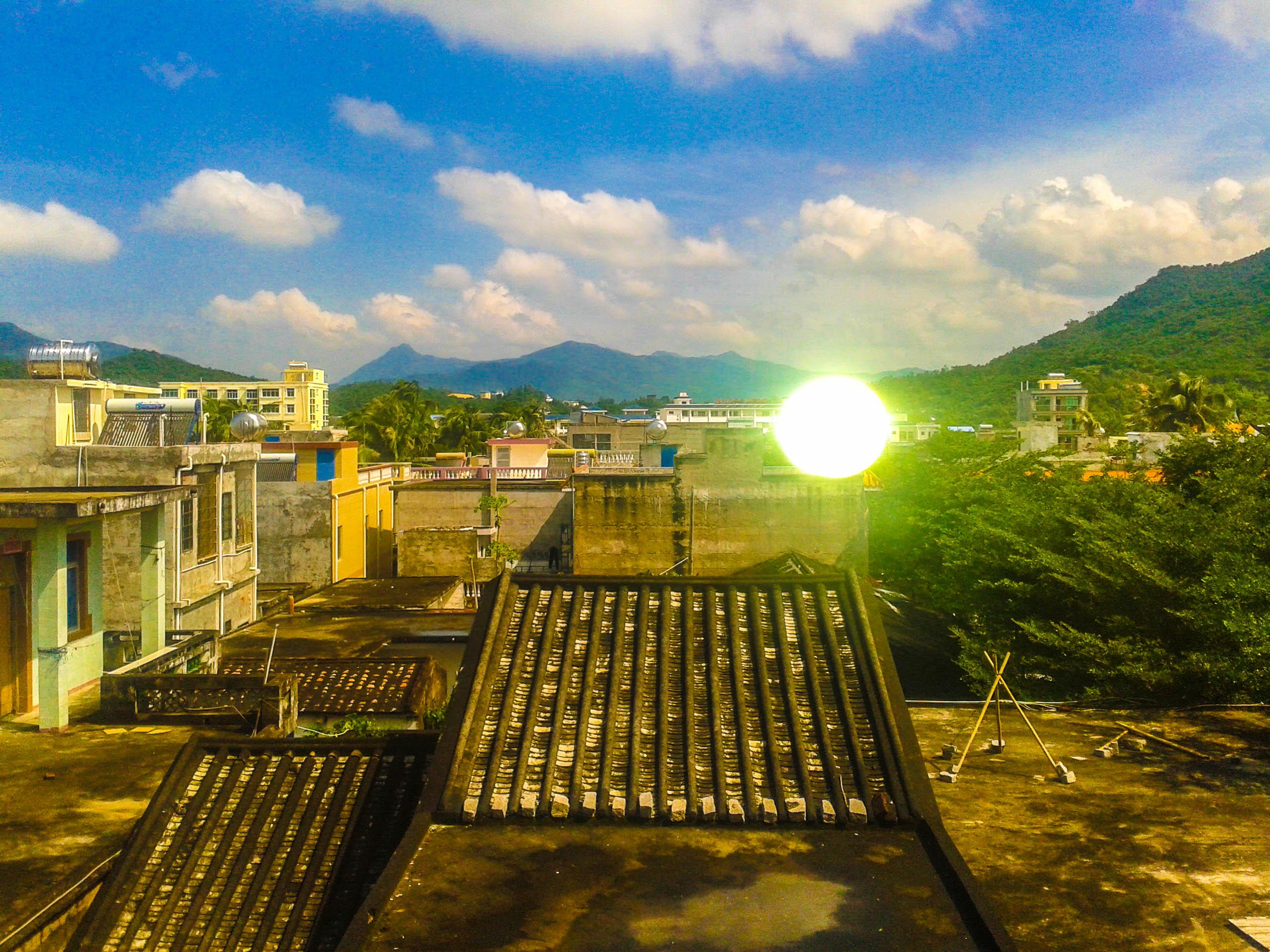 Sanya town. Sunny