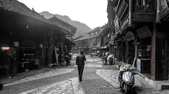 Xijian Miao village street
