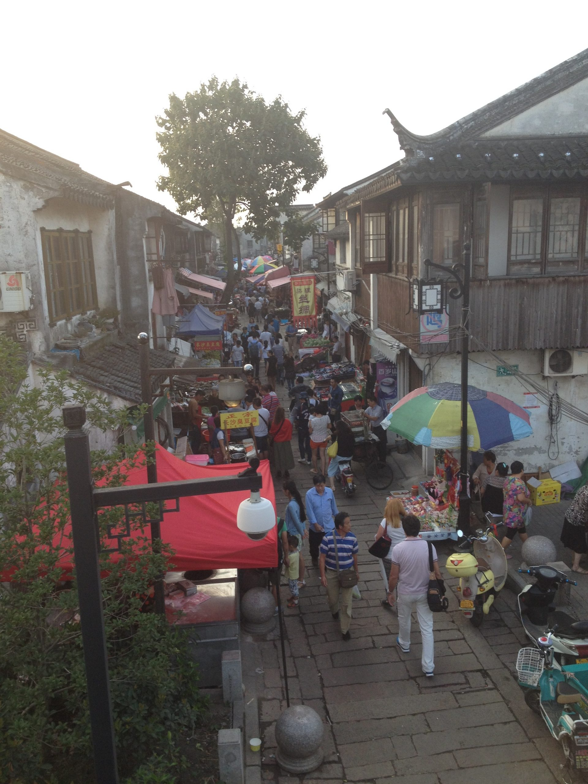 Busy street in Suzhou China