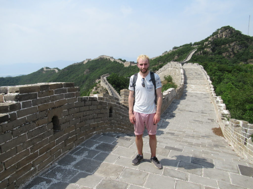 Richard Mcdonald on the great wall of China