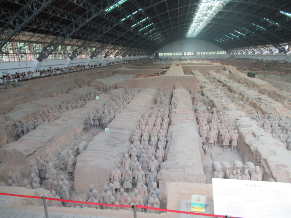 Richard visiting terracotta warriors