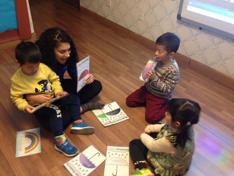 Ella teaching English in Beijing