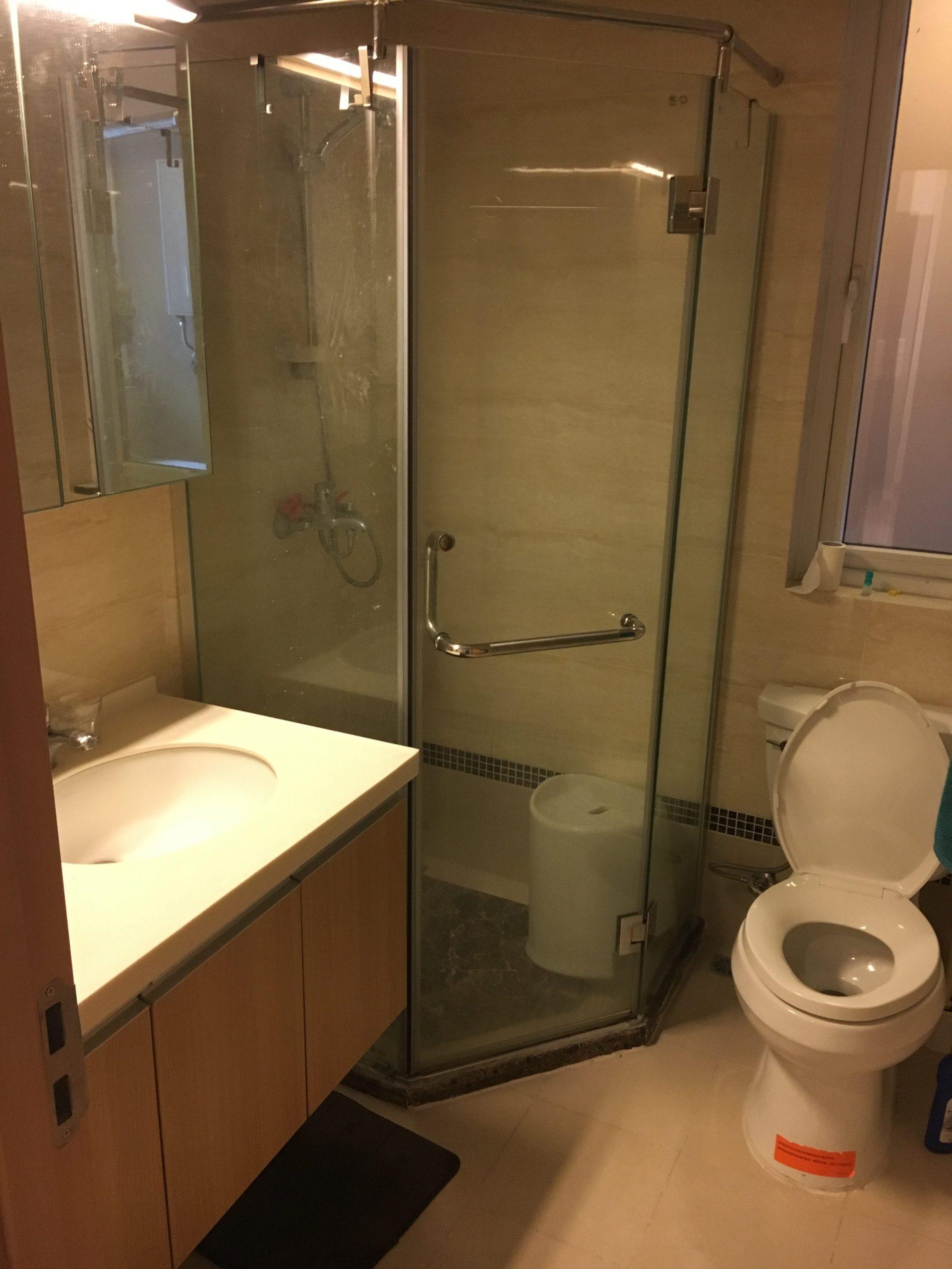 TEFL teachers apartment at EF Chongqing. Bathroom