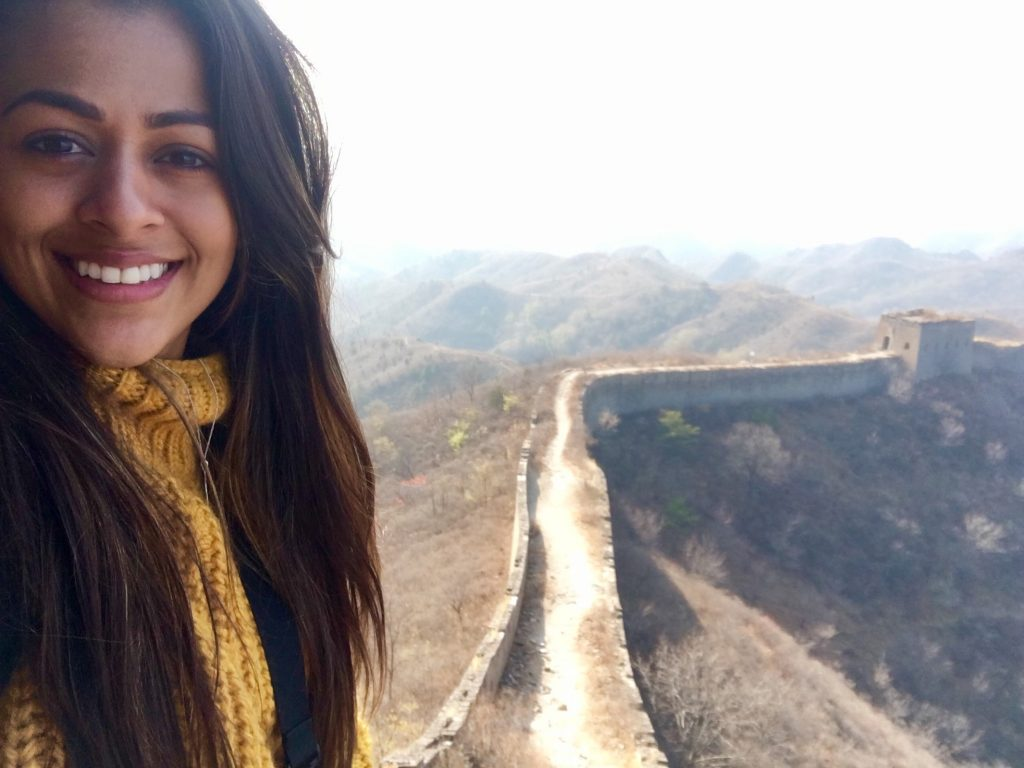 ChinaTEFLer Jordan at the great wall of China