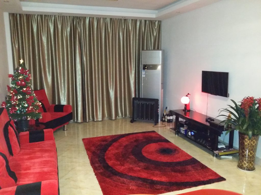 TEFL teachers apartment living room Yiwu Zhejiang China