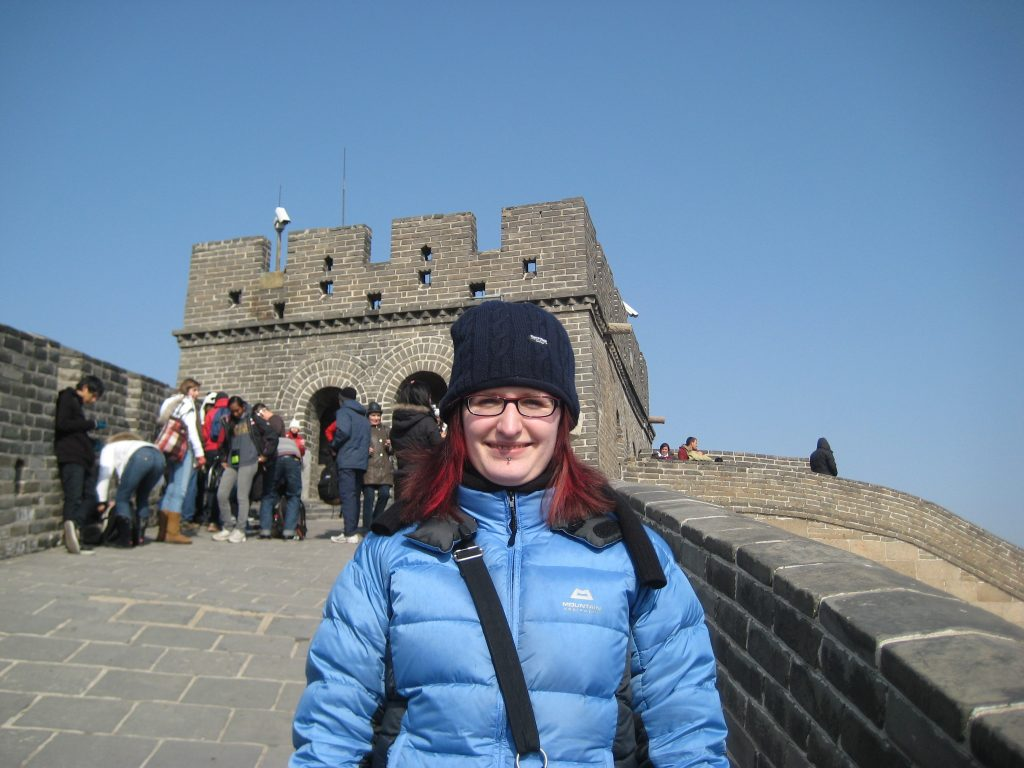 Georgina Bleweet TEFL teacher at the Great Wall