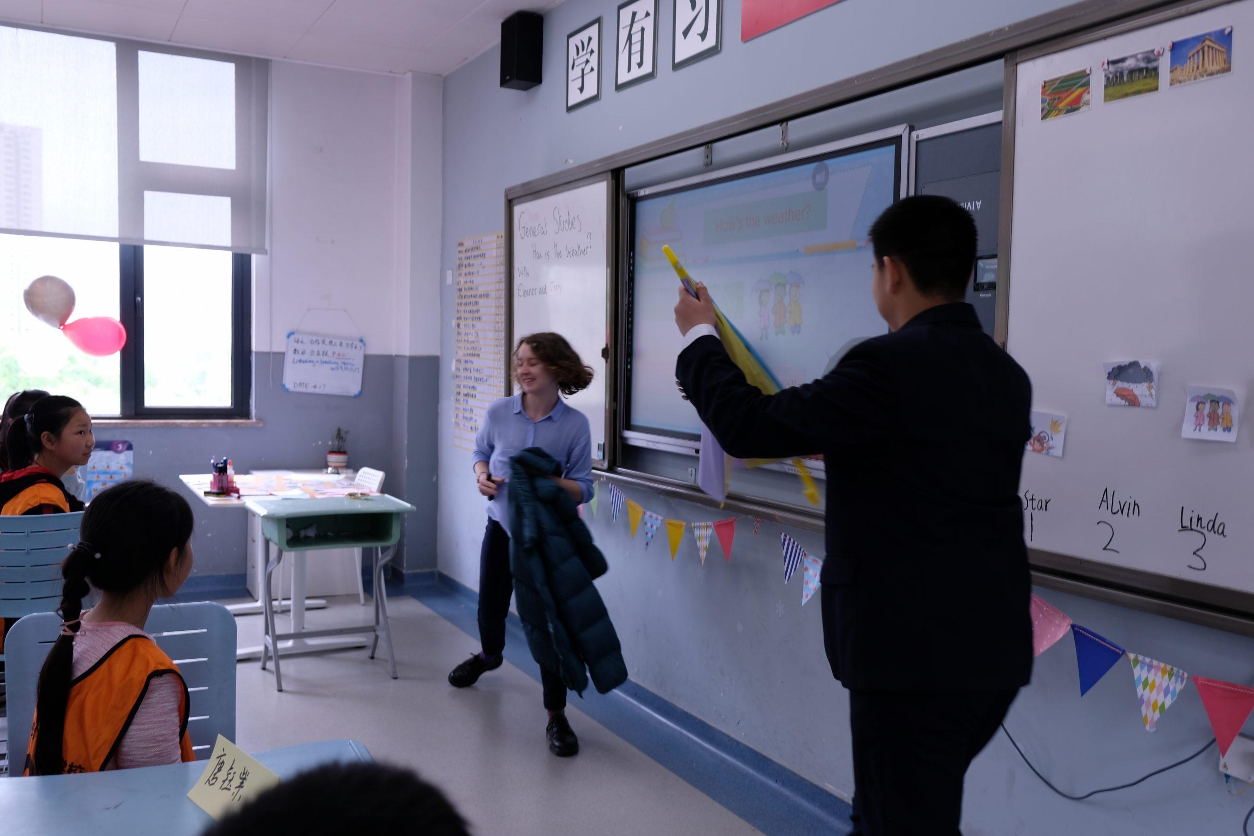 Classroom at Depu Foreign Language school Chongqing during open class