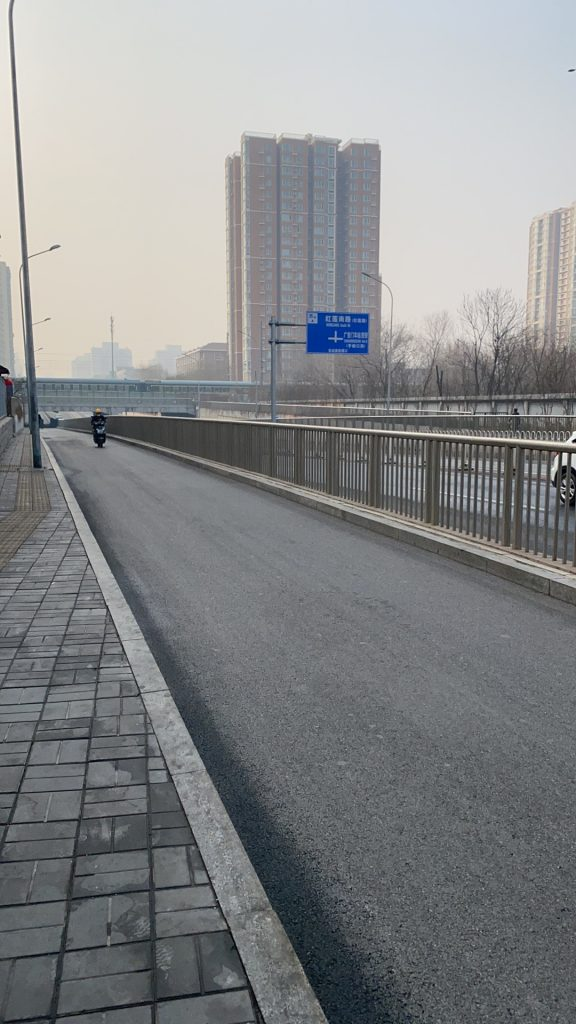 It's still pretty empty on the streets of Beijing