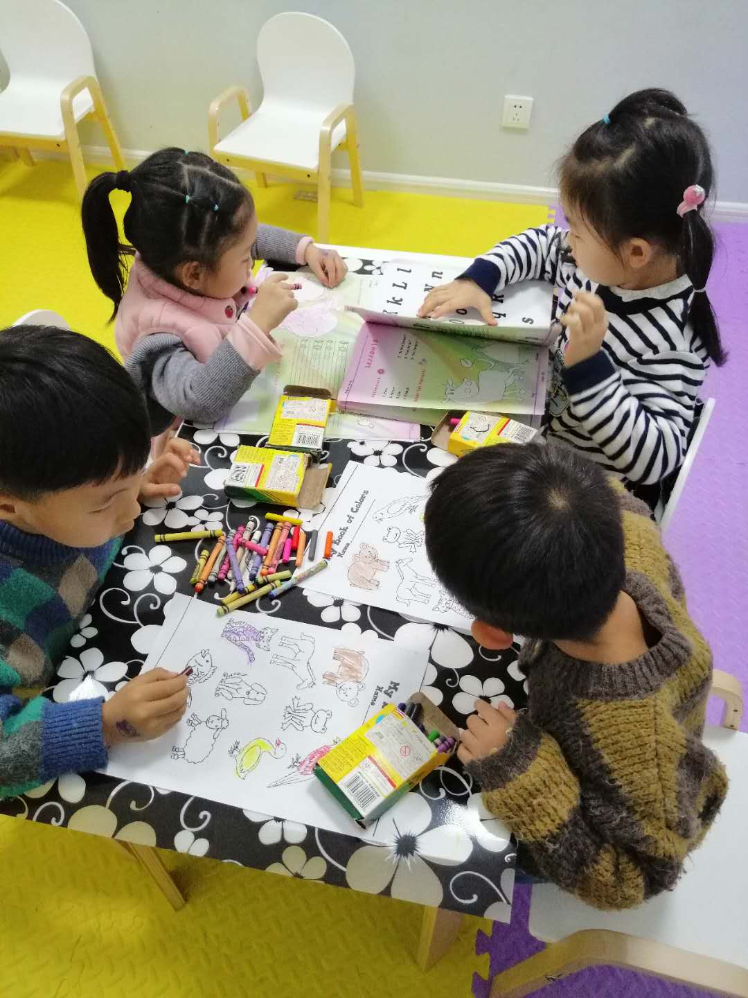 My English language kindergarten students at Romp n Roll Jining